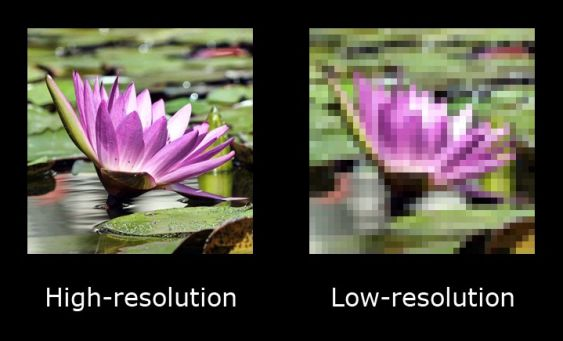 high resolution and low resolution
