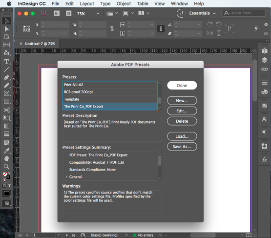 Export PDF for print step 4