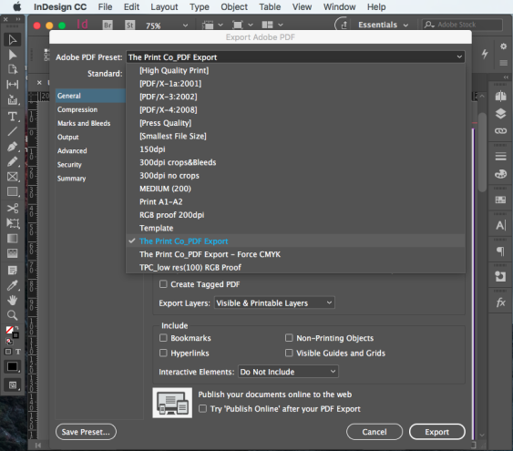 Export PDF for print step 7