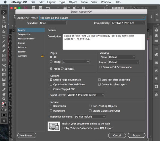 Export PDF for print step 8