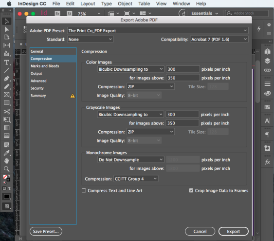 Export PDF for print step 9