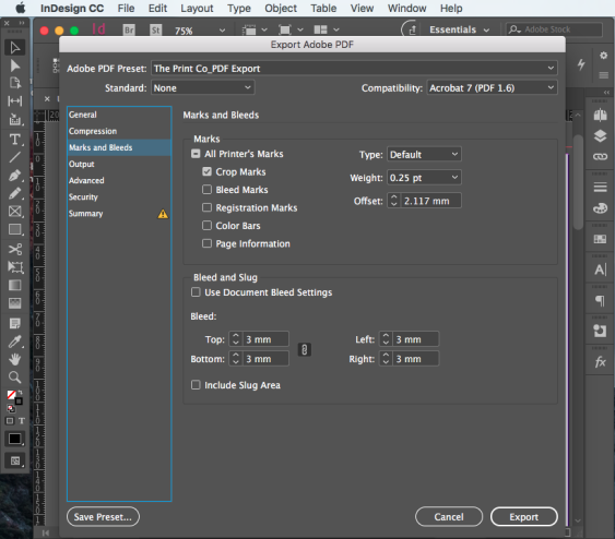 Export PDF for print step 10