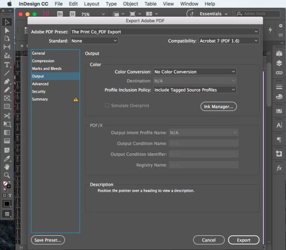 Export PDF for print step 11