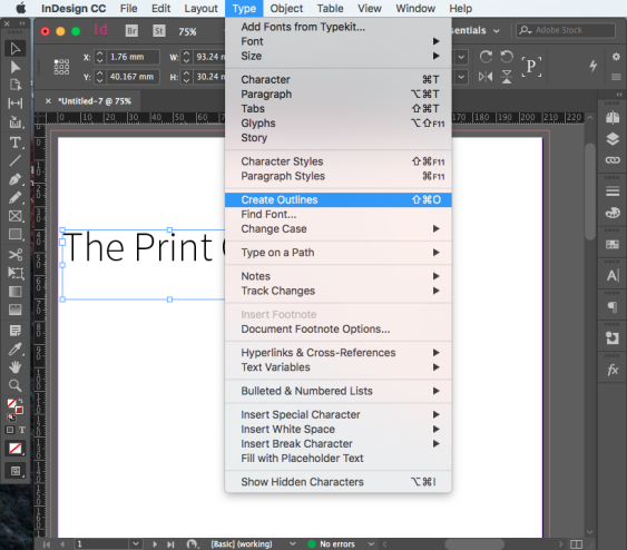 Font Create outline